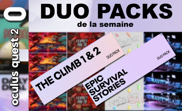 Duo packs de la semaine (05.03.2021)