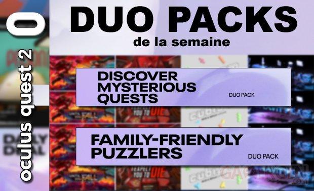 Duo packs de la semaine (10 04 2021)