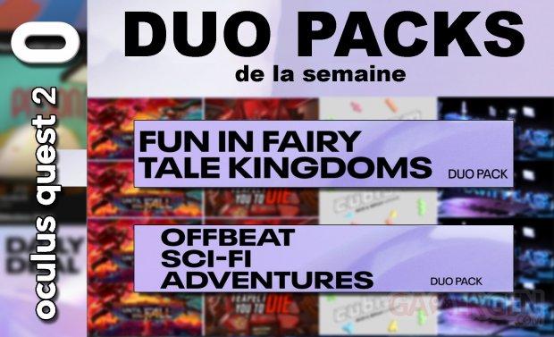 Duo packs de la semaine (14 05 2020)