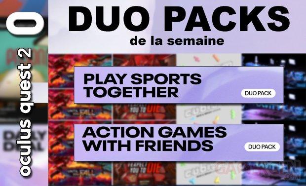 Duo packs de la semaine 23 au 30 juillet