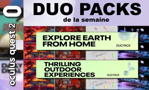 Duo packs de la semaine du 23 avril 2021