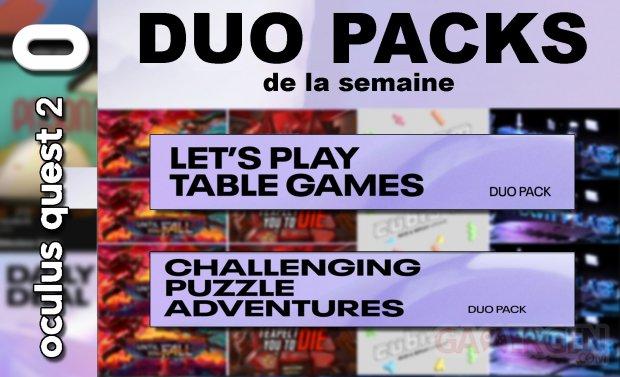 Duo packs de la semaine masque vignette 21 mai 2021