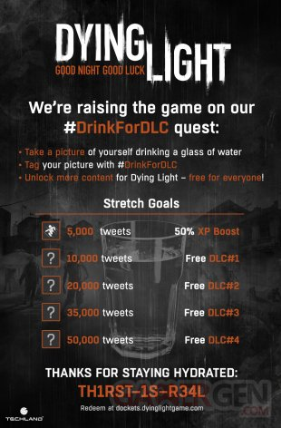 Dying Light #DrinkForDLC