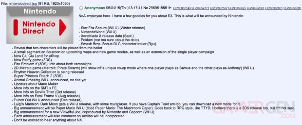 E3 2015 nintendo info intox rumeur