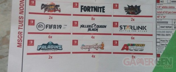 E3 2018   Nintendo jeux Switch