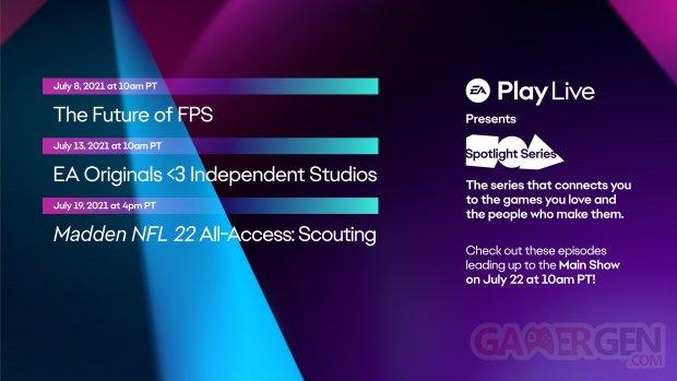EA Play Live Spotlight Series 01 07 2021