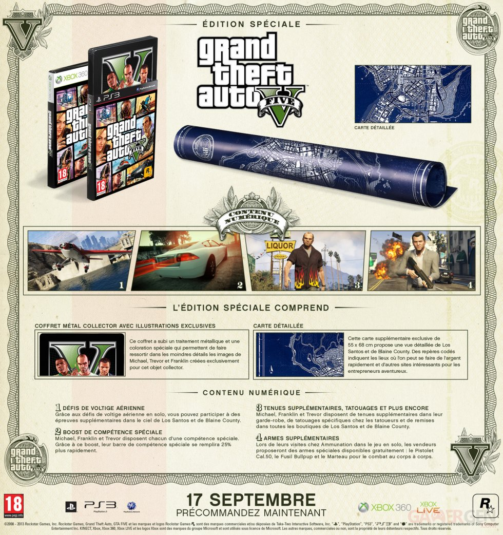 Edition Speciale GTA 5 unboxing 17-09-2013