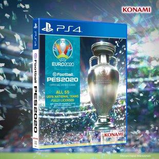 eFootball PES 2020 packshot jaquette UEFA Euro 2020