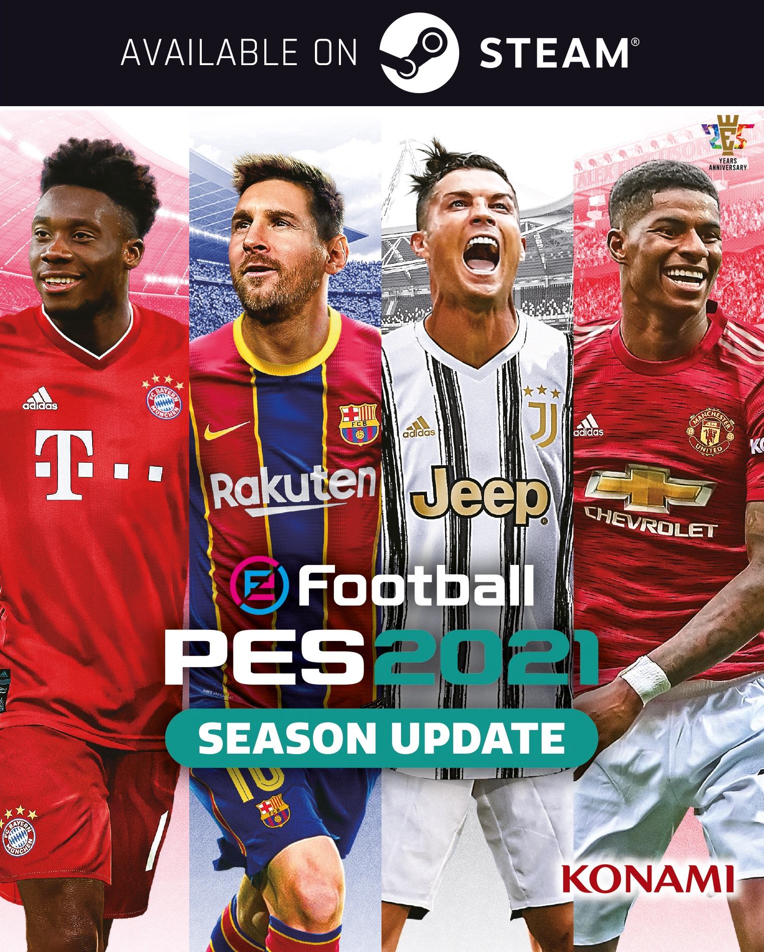 Messi et Ronaldo réunis sur la jaquette de PES 2021 — E-Sport