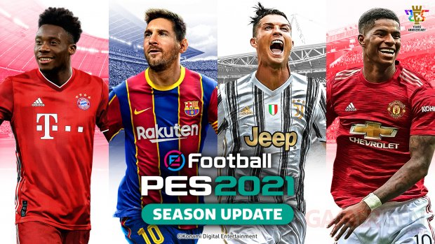 eFootball PES 2021 Season Update jaquette cover key art wallpaper fond d'écran