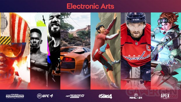 Electronic Arts games jeux 2020 line up
