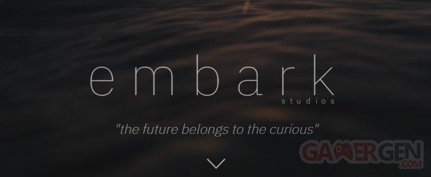 Embark Studios logo head banner