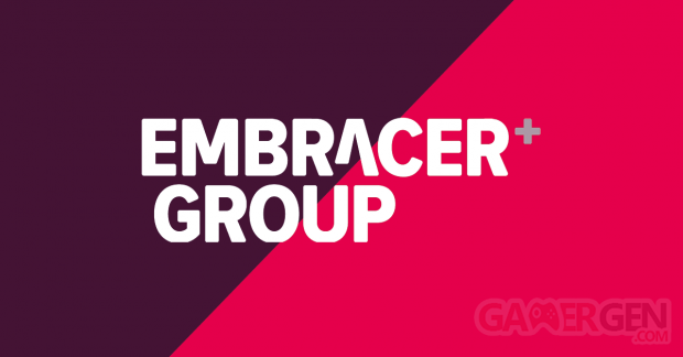 Embracer Group logo head banner