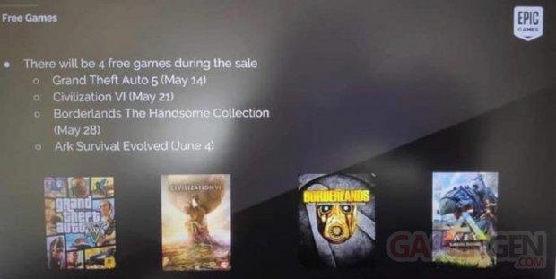 Epic Games Store Jeux leak rumeur