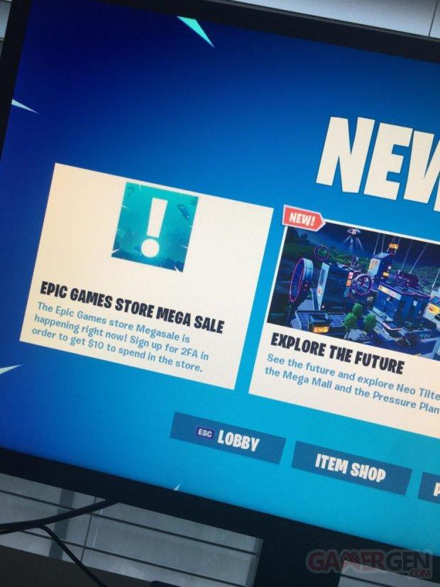 Epic Games store leak