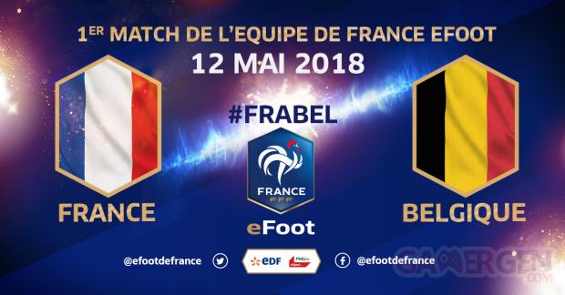 Equipe de France eFoot Belgique