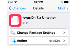 evasi0n 7.x untether paquet