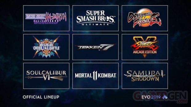 EVO 2019 line up