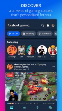 Facebook Gaming Google Store
