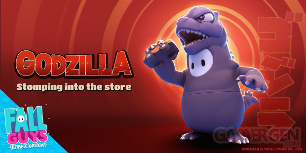 Fall Guys Ultimate Knockout skin costume Godzilla