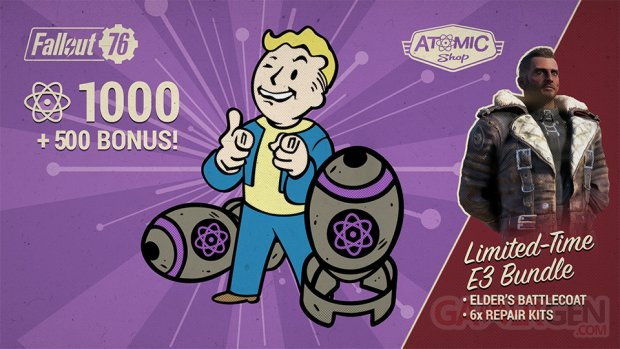Fallout 76 boutique atomique réduction E3 10 06 2019