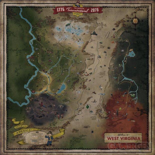 Fallout 76 carte map 10 10 2018