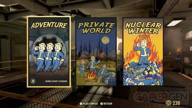 Fallout 76 serveurs privés 17 10 2019