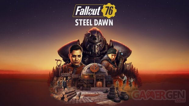 Fallout 76 Steel Dawn Aube d'Acier key art