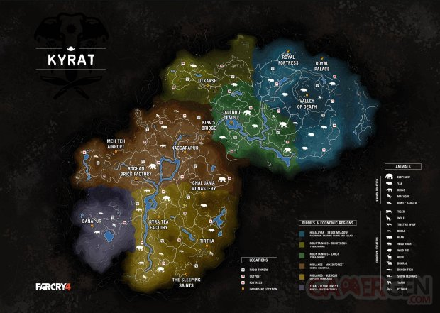 far cry 4 carte map
