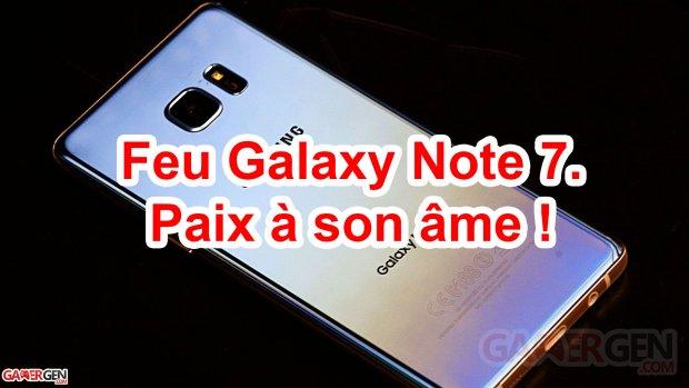 Feu Galaxy Note 7