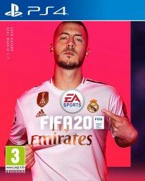 FIFA 20 jaquette cover star Eden Hazard