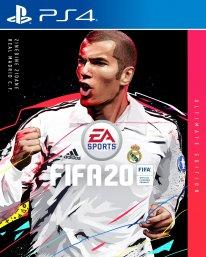 FIFA 20 jaquette pochette Zidane