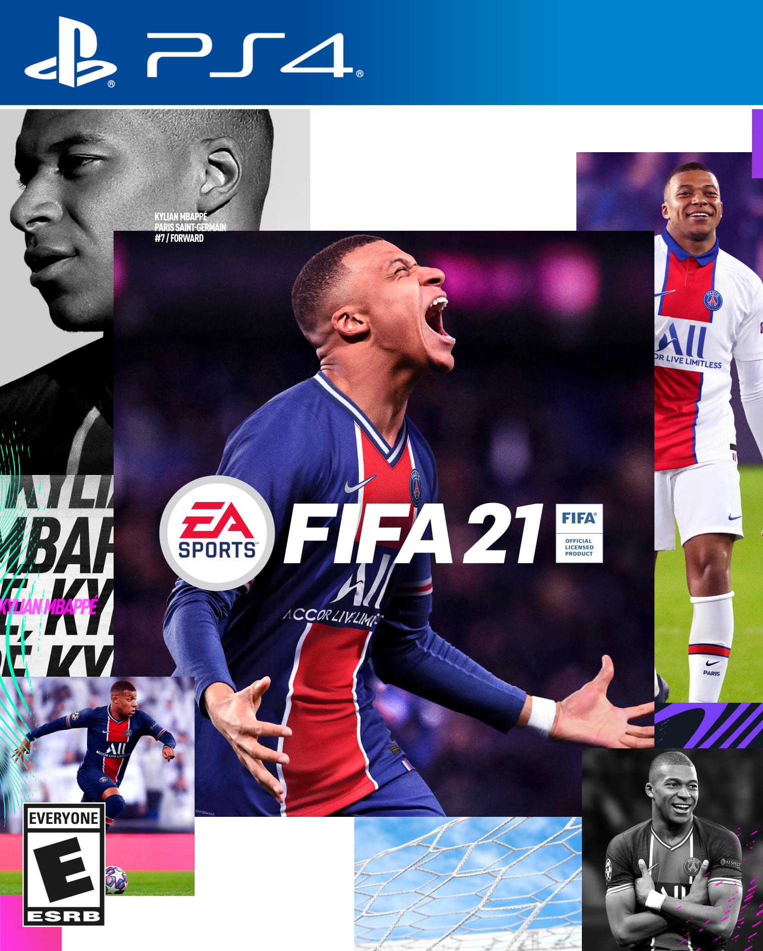 PSG : Kylian Mbappé sur la jaquette de FIFA21