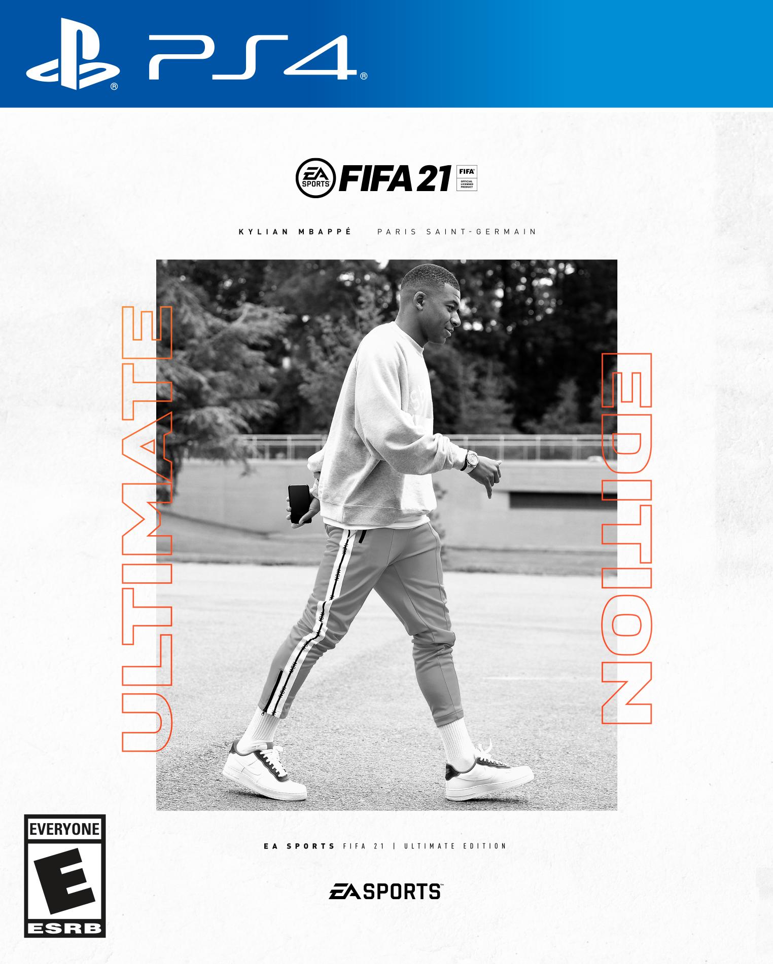 Kylian Mbappé (PSG) en couverture de FIFA 21