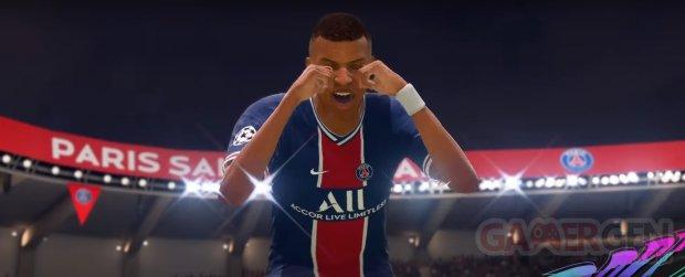 FIFA 21 Kylian Mbappé Cry Baby pleurs célébration comment commande head