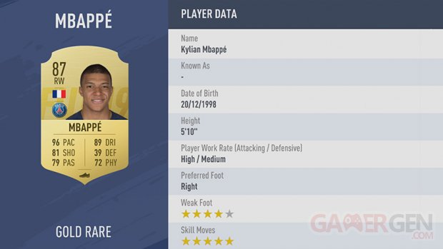 FIFA19 tile medium 42 Mbappe md 2x
