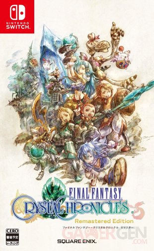 Final Fantasy Crystal Chronicles Remastered Edition jaquette Japon Switch 09 09 2019