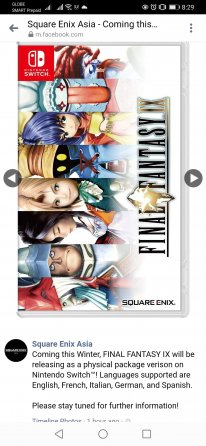 Final Fantasy IX Switch Square Enix Asia Facebook 16 10 2020