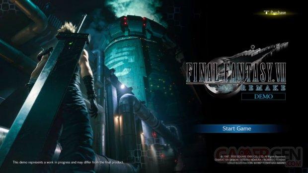 Final Fantasy VII Remake démo vignette 31 12 2019