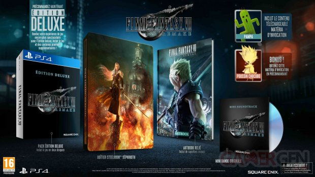 Final Fantasy VII Remake Editions collector deluxe images (1)