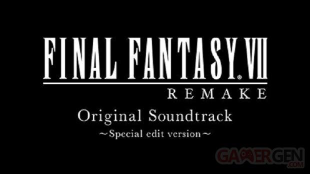 Final Fantasy VII Remake Original Soundtrack Special Edition Version logo