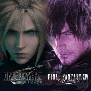 Final Fantasy VII Remake thème dynamique collaboration Final Fantasy XIV