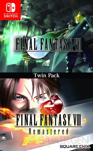 Final Fantasy VII VIII Remastered jaquette Switch edition physique image