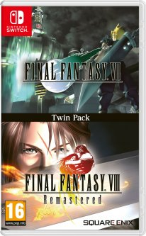 Final Fantasy VIII Remastered VII Double Pack jaquette Switch 16 10 2020