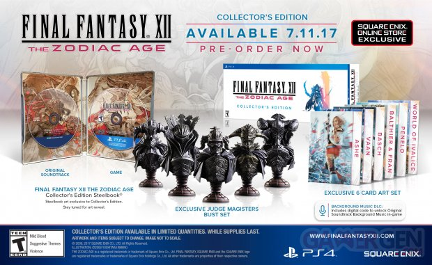 Final Fantasy XII The Zodiac Age éditon collector 11 03 2017