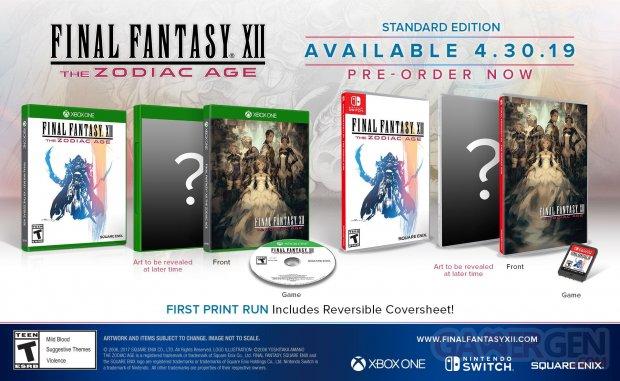 Final Fantasy XII The Zodiac Age jaquette US 25 02 2019
