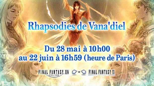 FInal Fantasy XIV évènement collaboration FFXI Rhapsodies de Vanadiel 01 28 05 2020