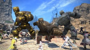 Final Fantasy XIV FFXIV évènement collaboratif Dragon Quest X Golem hors du commun 02 02 07 2020
