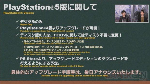 Final Fantasy XIV FFXIV PS5 upgrade 06 02 2021