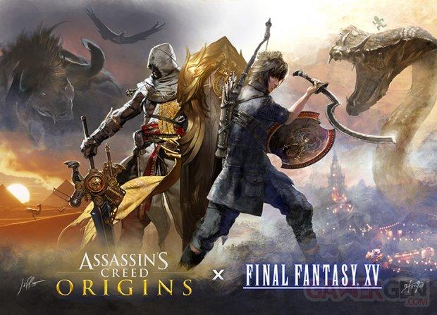 Final Fantasy XV Assassin's Creed Origins art
